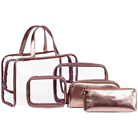 66aa3aa9bec2 Cosmetic Bag & Case Portable Carry on Travel Toiletry Bag Clear PVC ...